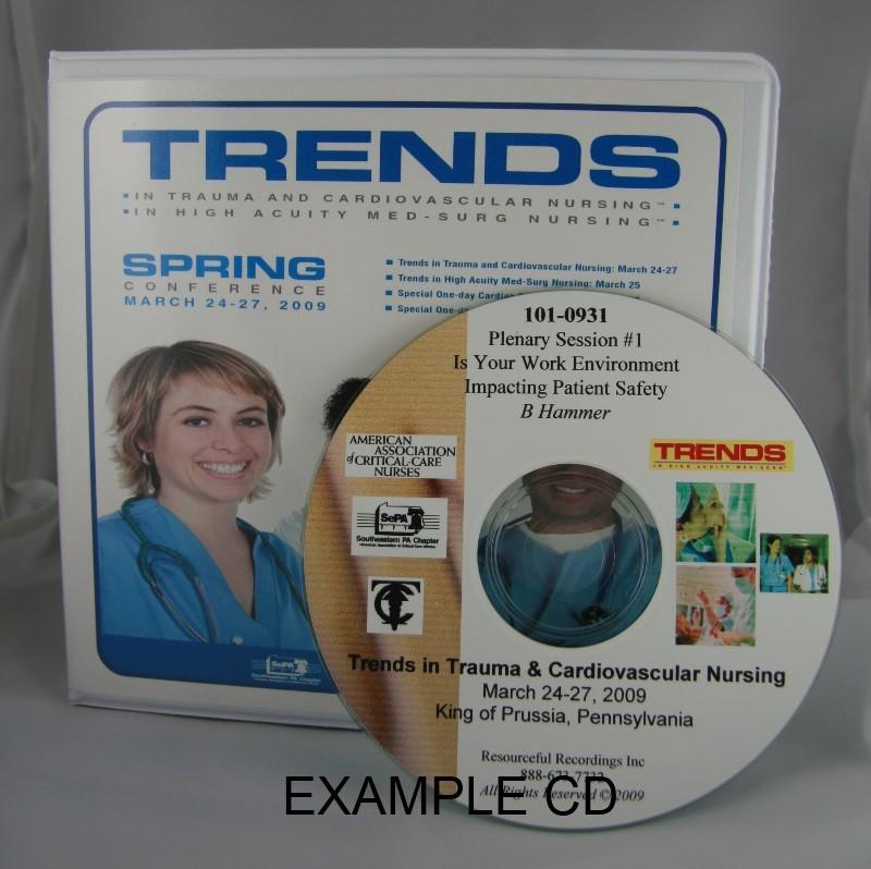 Entire 2010 Trends In Trauma & Cardiovascular Nursing Program on an MP3 DVD